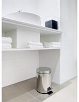 Afvalbak pedaalemmer RVS mat rond 3 liter-1