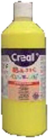 Plakkaatverf Creall basic 02 primair geel 500ml