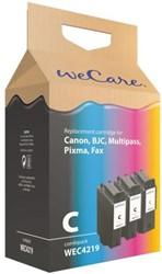 Inkcartridge Wecare Canon BCI-24 2x zwart + kleur