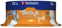 DVD-R Verbatim 4.7GB 16x printable spindel 25stuks