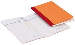 Kasboek gebonden klein formaat 135x85mm met 1 kolom