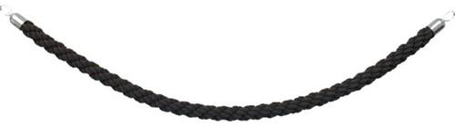 Afzetkoord Securit 150cm zwart met chroome knop