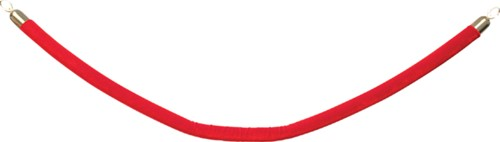 Afzetkoord Securit 150cm rood met goudkleurige knop-1