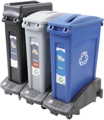 Afvalbak rijdend onderstel Slim Jim zwart-2