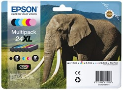 Inkcartridge Epson 24XL T2438 foto zwart + 6 kleuren HD