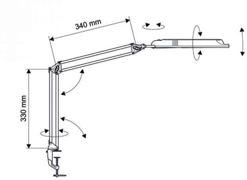 Bureaulamp Maul Atlantic ledlamp met voet zwart-3