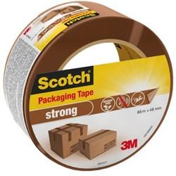 Verpakkingstape Scotch strong 48mmx66m bruin PP