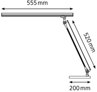 Bureaulamp Hansa led Grafilux aluminium-1