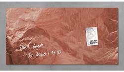 Glasbord Sigel magnetisch 910x480x15mm koper