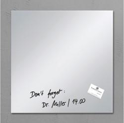 Glasbord Sigel magnetisch 480x480x15mm spiegel