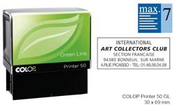 Tekststempel Colop 50 green line+bon 7regels Frans 69x30mm