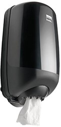 Dispenser Satino Black Mini voor poetsrollen
