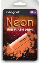 USB-stick 2.0 Integral 32GB neon oranje