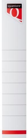 Rugetiket Quantore smal 34x190mm zelfklevend wit