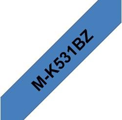 Labeltape Brother P-touch MK531BZ 12mm zwart op blauw