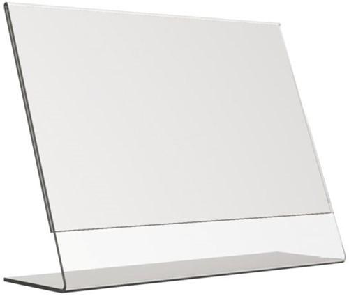 Kaarthouder OPUS 2 L-standaard A4 liggend acryl-2