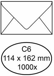 Envelop bank 114x162mm 70gr wit 1000stuks