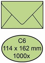 Envelop bank 114x162mm 70gr groen 1000stuks