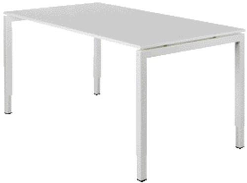 Bureau NPO Fyra instelbaar 180x80cm wit frame wit blad