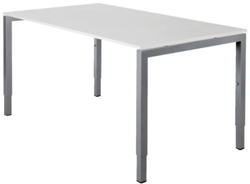 Bureau NPO Fyra instelbaar 200x100cm alu frame wit blad