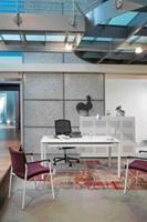 Bureau NPO Fyra vaste hoogte 200x100cm wit frame wit blad