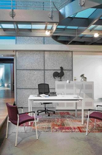 Bureau NPO Fyra vaste hoogte 120x80cm wit frame wit blad