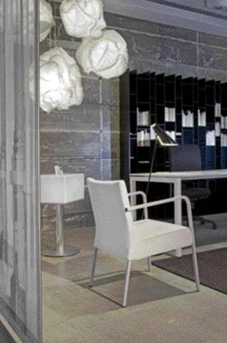 Bureau NPO Fyra vaste hoogte 160x80cm wit frame wit blad
