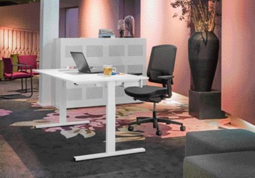 Bureau NPO Pro-Fit vast 200x100cm wit frame wit blad