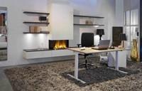 Bureau NPO Pro-Fit instelbaar 180x80cm wit frame eiken blad-3