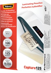 Lamineerhoes Fellowes 54x86mm 2x125micron 100stuks