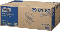 Handdoek Tork H3 290163 2laags 23x25cm wit 15x250st