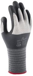 Handschoen Showa 381 grip nitril grijs medium