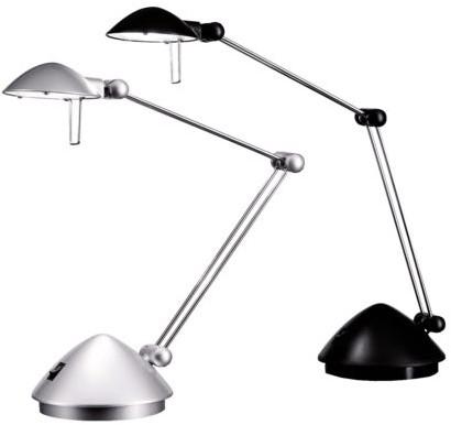Bureaulamp Hansa led Madrid zilvergrijs