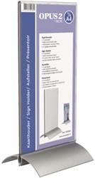 Kaarthouder OPUS 2 1/3 A4 T-standaard acryl aluminium