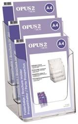Folderhouder OPUS 2 3vaks A4 acryl
