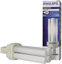 Spaarlamp Philips Master PL-C 2P 10W 600 Lumen 830 warm wit