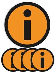 Magneet info 5cm oranje