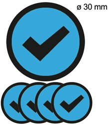 Magneet check 3cm lichtblauw