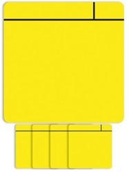 Magneet scrum 7.5cmx7.5cm geel
