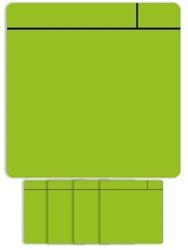 Magneet scrum 7.5cmx7.5cm groen