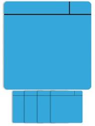 Magneet scrum 7.5cmx7.5cm lichtblauw