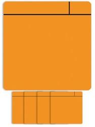 Magneet scrum 7.5cmx7.5cm oranje