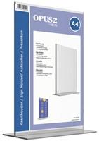 Kaarthouder OPUS 2 T-standaard A4 staand acryl