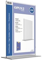 Tafelstandaard OPUS 2 A4 staand glashelder
