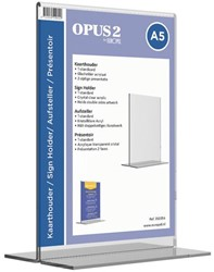 Tafelstandaard OPUS 2 A5 staand glashelder