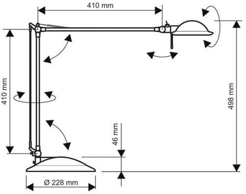 Bureaulamp Maul Business ledlamp met voet zilvergrijs-1