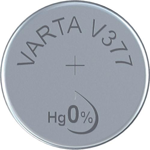 Batterij Varta knoopcel V377 horloge blister à 1stuk