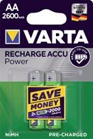 Batterij oplaadbaar Varta 2xAA 2600mAh ready2use