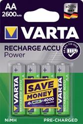 Batterij oplaadbaar Varta 4xAA 2600mAh ready2use