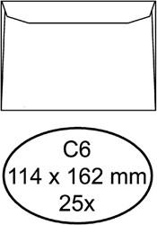 Envelop Quantore bank C6 114x162mm wit 25stuks
